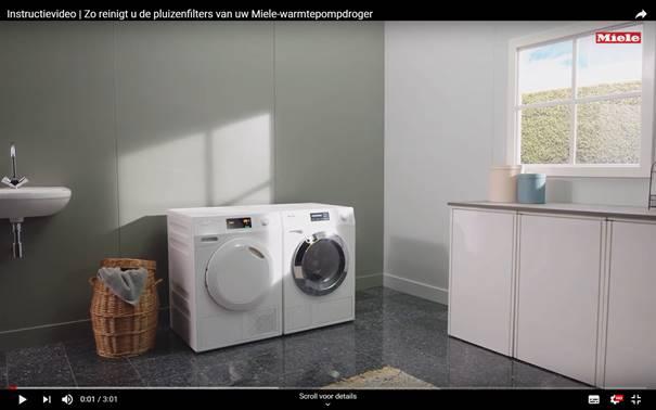 Instructievideo schoonmaken warmtepompdroger - Video